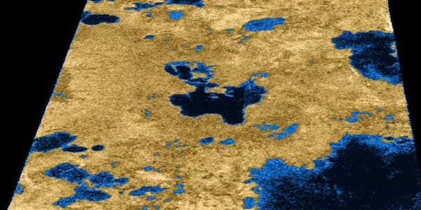 Radar swath of Titan