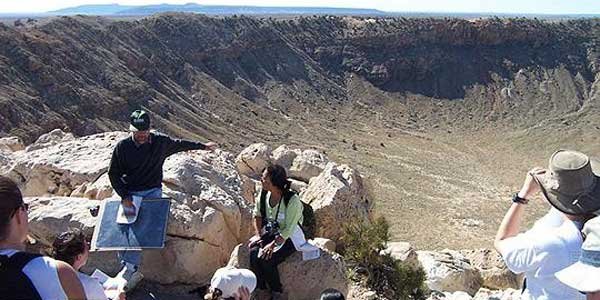 USGS Astrogeolgoy team members at Meteor Crater