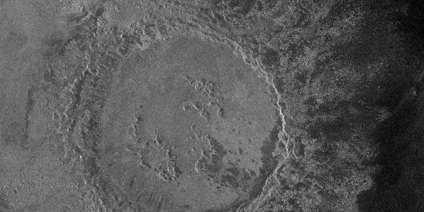 Stuart crater, an example of the pristine category - essentially unaltered crater ejecta and fluidized outflow deposits, where present