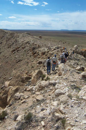 Students on a field trip to Meteor Crater