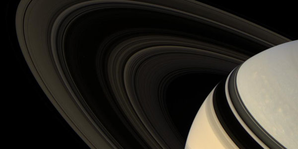 Saturn's rings viewed by Cassini