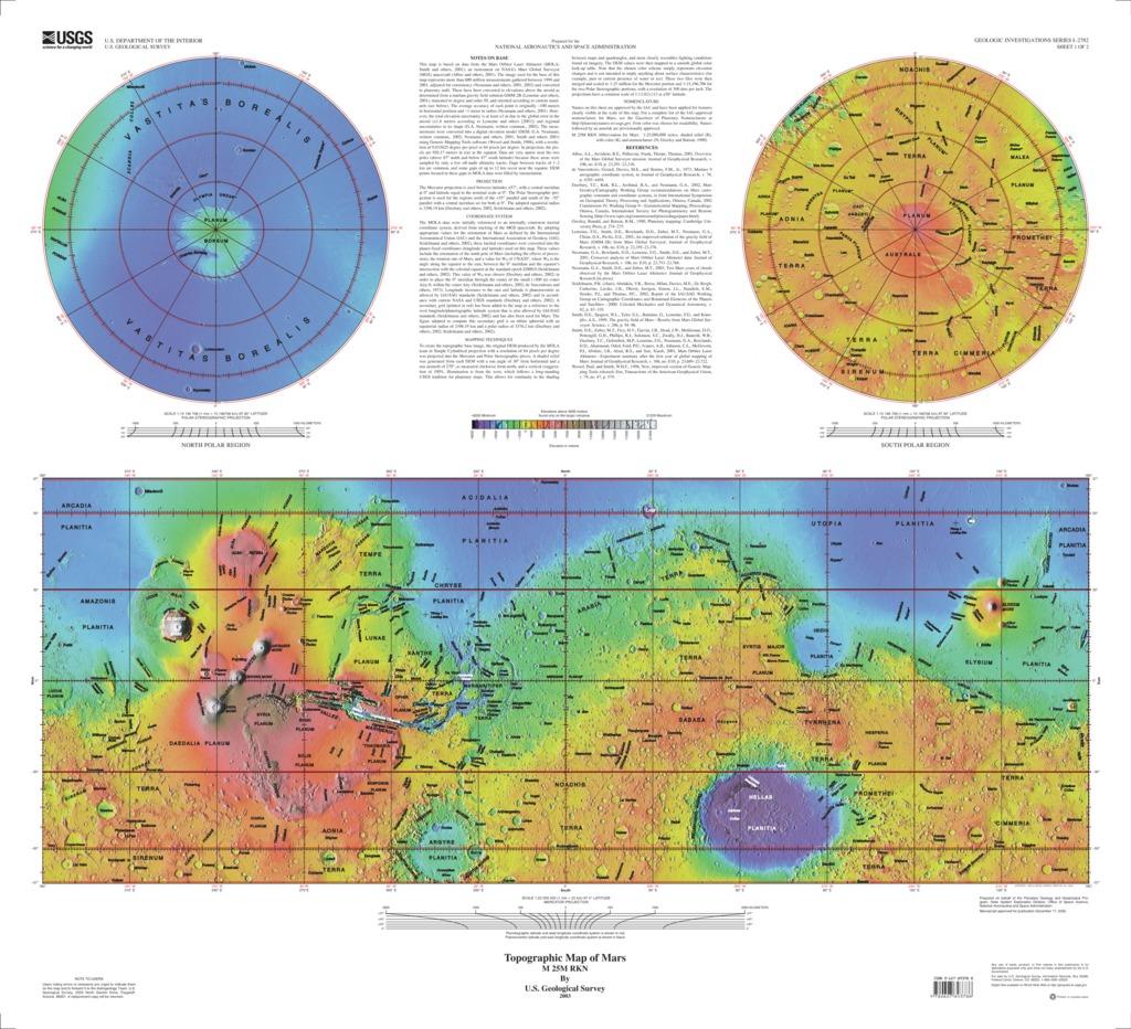 Mars global surveyor mola topographic map usgs astrogeology download gumiabroncs Choice Image