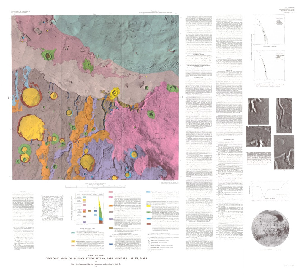 Mars geologic maps of science study site 1a east mangala valles download gumiabroncs Image collections