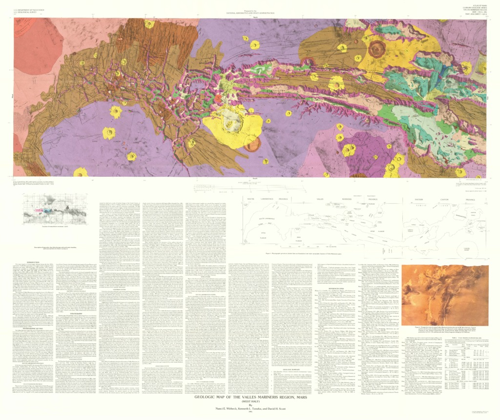 Mars geologic map of the valles marineris region usgs astrogeology mars geologic map gumiabroncs Images