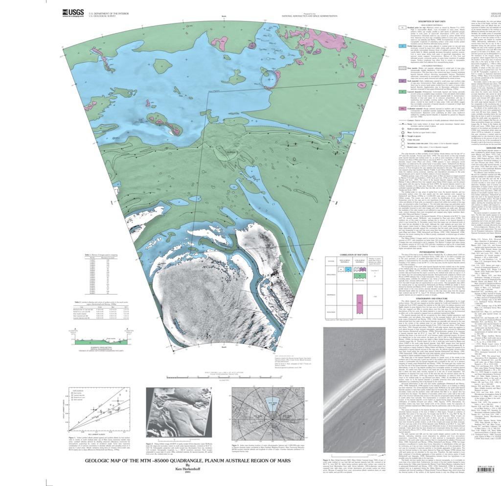 Mars Geologic Map of the MTM -85000 Quadrangle, Planum Australe ...