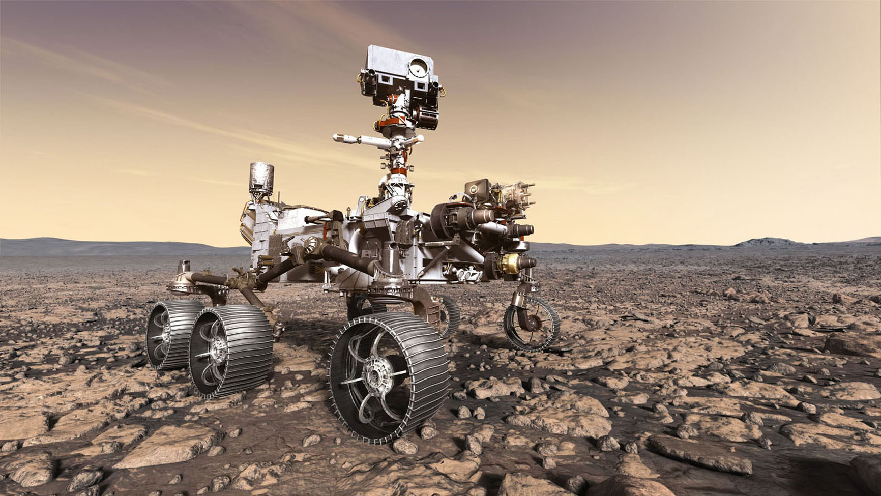 Artist's rendition of the NASA Mars 2020 rover